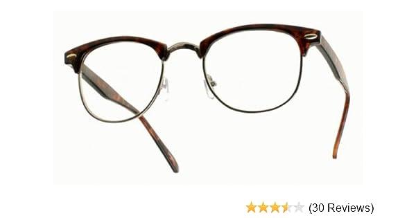 441a4c732a Amazon.com  80 s -  ClubsMen  Half Frame Clear Lens Glasses  Shoes