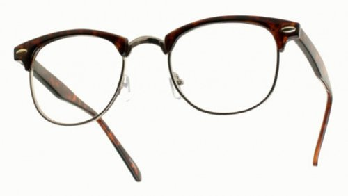 6c7291686713 Image Unavailable. Image not available for. Color  80 s -  ClubsMen  Half  Frame Clear Lens Glasses
