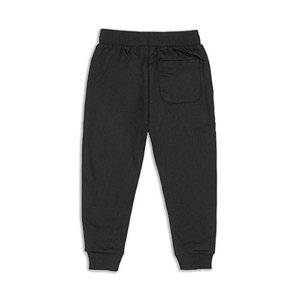 JAWANNA Steampunk Pug Printed Boy's Cotton Sweatpants, Age 2T-6T (2-6 Years) Black 4
