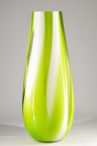 Xxl Grosse Glas Extravagante Bodenvase Grun Weiss Design Murano