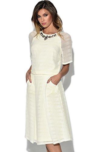 Vestry Para Blanco Vestido Vestido Vestry Para Mujer Mujer 7ROxqFv