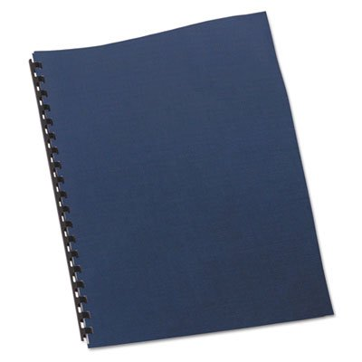 Linen Textured Binding System Covers, 11 x 8-1/2, Navy, 200/Box, Sold as 200 Each