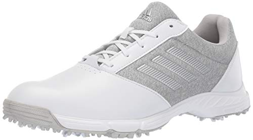 adidas Womens TECH Response Golf Shoe, White/Silver Metallic/Grey Two, 9 M US