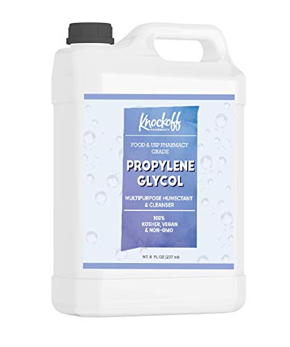 Propylene Glycol (64 oz.) by Knock Off Pharmacy, 100% Pure, Food & Pharmaceutical Grade, Hypoallergenic Moisturizer & Skin Cleanser