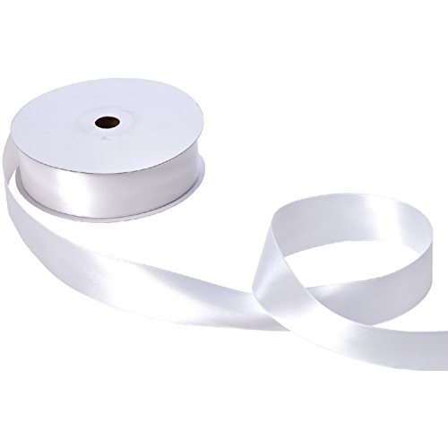 Jillson & Roberts Double-Faced Satin Ribbon, 1 1/2'' Wide x 50 Yards, White by Jillson Roberts