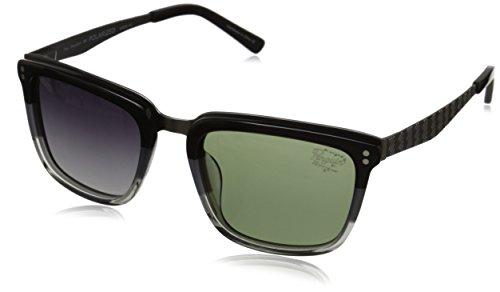 Original Penguin Men's The Brooklyn Polarized Sunglasses, Black Tin Grey Clear,Matte Gunmetal & Smoke, One - Sunglasses Penguin