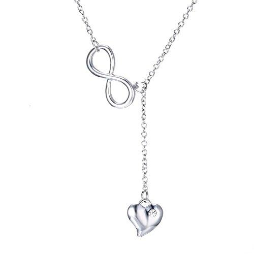 TuTu Y Sterling Silver Cubic Zirconia Infinity