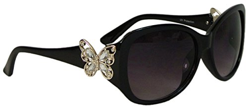 Bling Oversize Butterfly Sunglasses Polycarbonate Lens UV400 Protection (Butterfly Sunglasses)