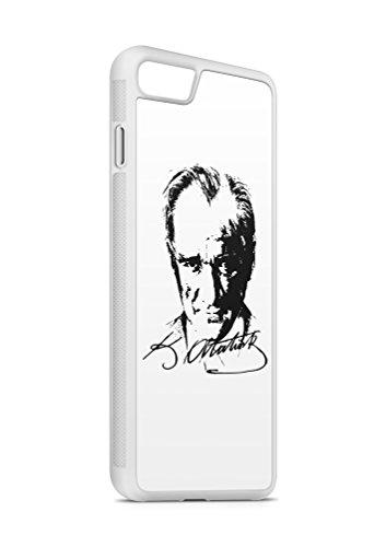 iPhone 6 PLUS 6s PLUS Atatürk Türkiye 5 SILIKON Flipcase Tasche Hülle Case Cover Schutz Handy Weiss