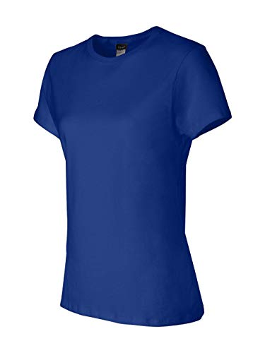 Hanes Women's Nano Premium Cotton Tee, Deep Royal, X-Large