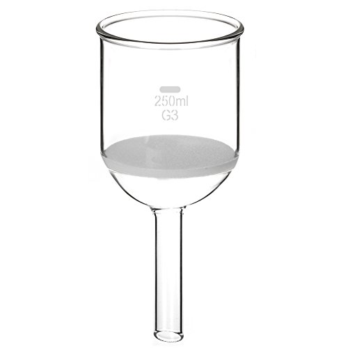 StonyLab Borosilicate Glass Buchner Filtering Funnel with Fine Frit, 30mm Disc Diameter, 90mm Depth by StonyLab