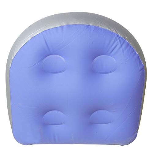 Tiakino Spa and Hot Tub Booster Seat Pad with Suction Cup, Back Support Bath Spa Pad Soft Inflatable Massage Cushion for Hot Tub & Spa