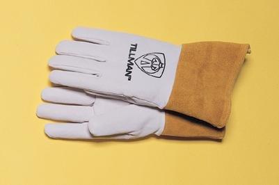 rain Pearl Gray Kidskin Premium Grade TIG Welders Glove With Kevlar Stitching, Wing Thumb, 4
