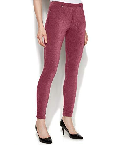 Michael Kors Womens Corduroy Casual Leggings Red XL/27