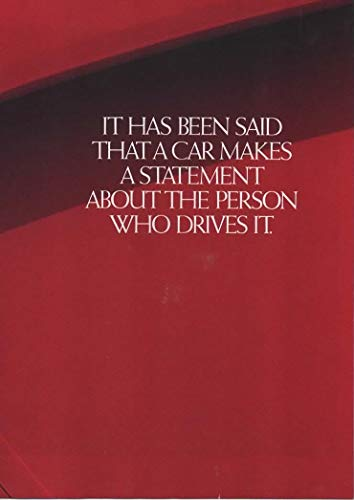 """Magazine Print ad Brochure Red 1990 Acura NSX,""""A Car Makes a Statement About the Person Who Drives it"""""""