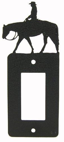 Female Western Pleasure Rider GFI Rocker Light Switch Plate Cover (Western Light Switch Covers)