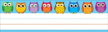 * COLORFUL OWLS NAMEPLATES 36CT by MotivationUSA