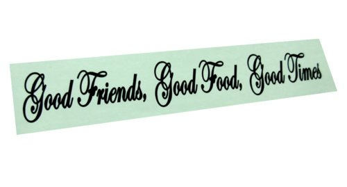 BERRYZILLA Good Friends, Good Food, Good Times Decal Wall Quote Decor Sticker 36