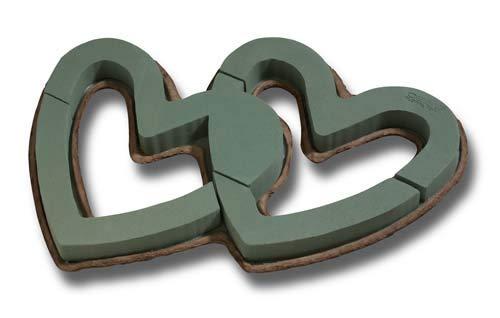 1828 Oasis 26in Mache Double Open Heart Floral Foam MaxLife (Box of 4) 1/2''W x 21''H