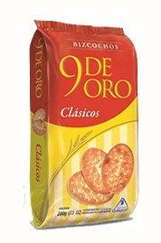 9 DE ORO Bizcochos de Grasa 200gr 10 Pack