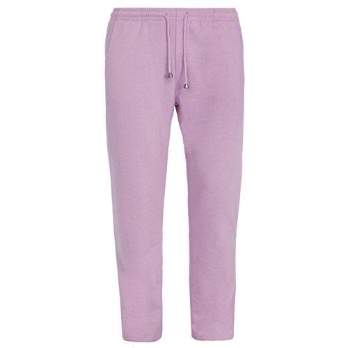 Cottonique - Ladies Plus Size Joggers (Sizes 3XL-5XL) Cotton Blend Sweatpants with Pockets Ideal for Gym Pink 5XL