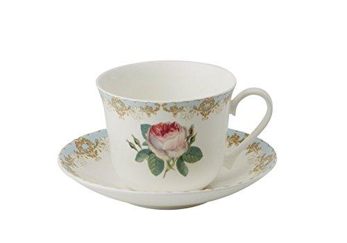 Roy Kirkham Breakfast Cup/Saucer, Vintage Roses, Set of 2