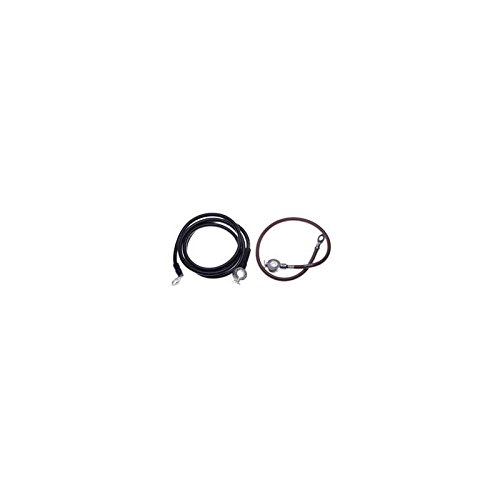 Eckler's Premier Quality Products 25-102096 - Corvette Spring Ring Battery Cables Small Block Or Big Block With Air Conditioning by Premier Quality Products