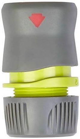 QB Verve Aquastop - Conector de Extremo de Manguera (plástico, 34 x 60 mm), Color Verde y Gris: Amazon.es: Jardín
