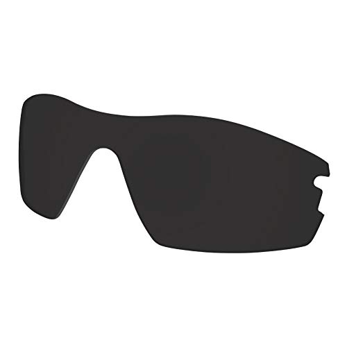 Predrox Dark Black Radar Pitch Lenses Replacement for Oakley Sunglass Polarized ()