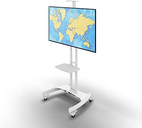Kanto MTM65PLW Height Adjustable Mobile TV Stand