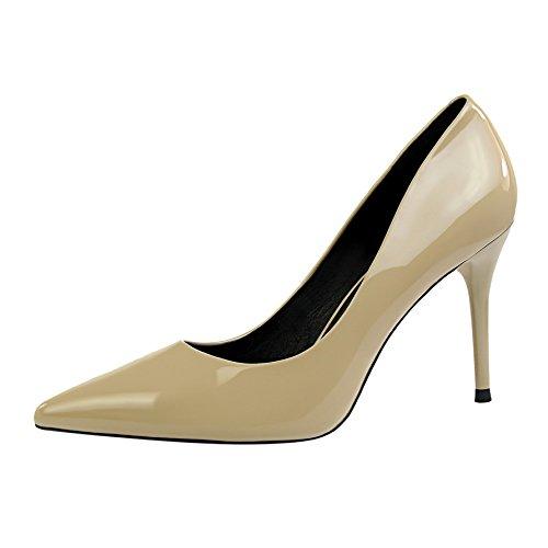 Xue Qiqi Qiqi Qiqi Pumps Sandalen Schuhe Stilvolle und Einfache Mädchen Hohe Spitzen Stöckelschuhen und Vielseitige Pendler mit Einem Einzigen Schwarze Schuhe Schuhe Arbeiten c851f0