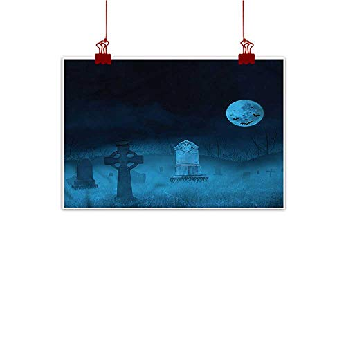 Mangooly Wall Painting Prints Gothic,Ghostly Graveyard Halloween 24
