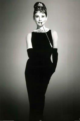 Audrey Hepburn Little Black Dress Movie Poster Print