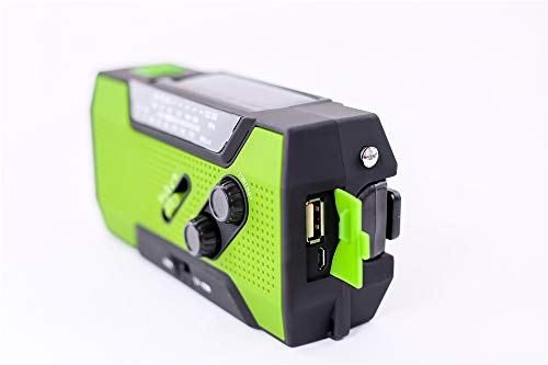 Emergency Weather Solar Crank AM/FM NOAA Radio, with 2000 mA Rechargeable Power Reading Lamp Led Flashlight SOS Alarm USB Charging Multi-Function Design for All Kinds of Emergency Situations. by JU FENG (Image #6)