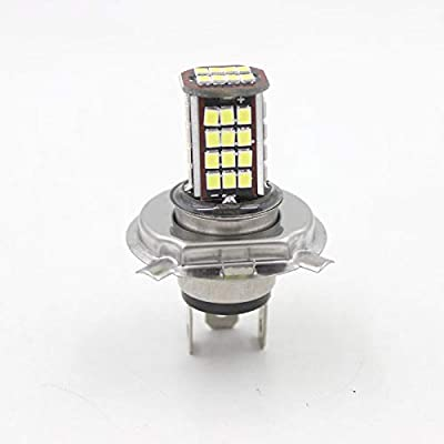 6V 56 SMD H4 LED Lamp Motorcycle Headlight Bulb Motorbike 10W 800LM 6000K White High/Low Conversion Kit: Automotive