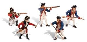 Woodland Scenics SP4454 1.5-Inch Scene Setters Figurine, Revolutionary War Soldiers, 5/Pack from Woodland Scenics