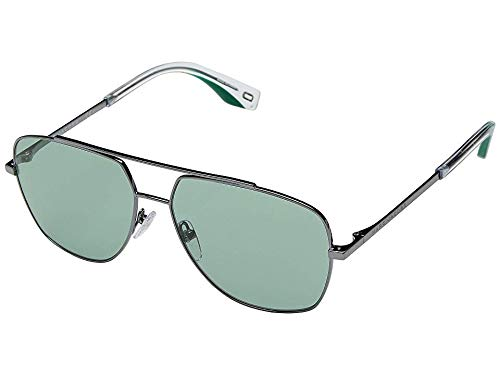 (Marc Jacobs Women's Aviator Sunglasses, Dark Green/Green, One Size)