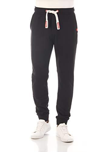 riverso RIVTim Men's Tracksuit Bottoms Jogging Bottoms Sports Trousers Casual Trousers Slim Plain Cotton Black Grey Red…