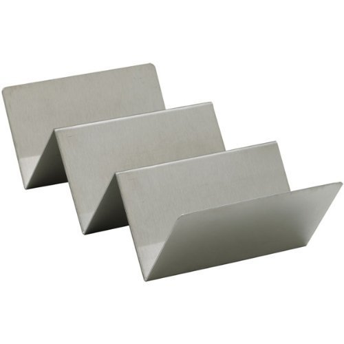 Winco TCHS-23 2-3 Compartments Stainless Steel Taco Holder,Set of 12