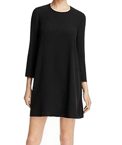 Eileen Fisher Silk Georgette Crepe Shift Dress