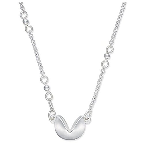 Inspired Life Women's 18-in Fortune Cookie Pendant Necklace, Silver-Tone -