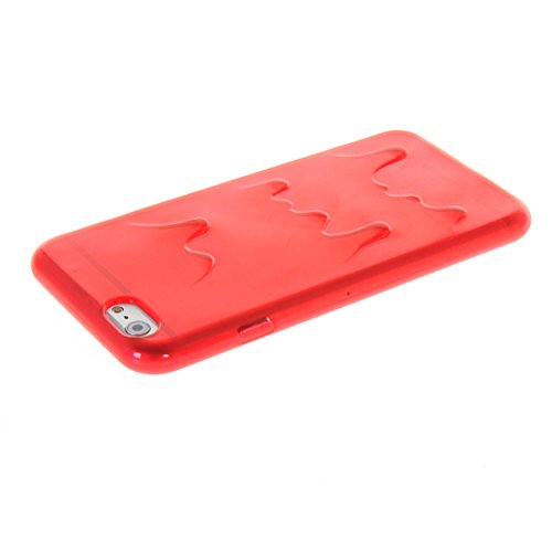 MOONCASE TPU Silicone Housse Coque Etui Gel Case Cover Pour Apple iPhone 6 ( 4.7 inch ) Rouge