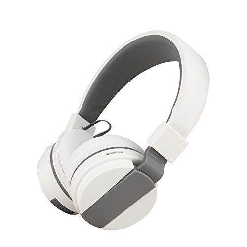 - Gaming Headset Wireless, Bluetooth Overhead Headphone Surrounding Noise Cancelling Microphone For PC / Nintendo Switch / PS4 / Xbox One / Iphone / Android Phone Comfortable Foldable Multicolor,White