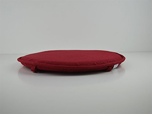 Catay home pack di 2 cuscini rotondi tela color rosso per sedia o
