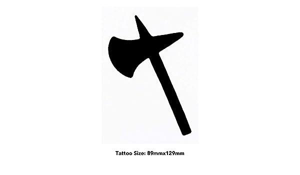 Azeeda Grande Hacha guerrera Tatuajes Temporales (TO00026794 ...
