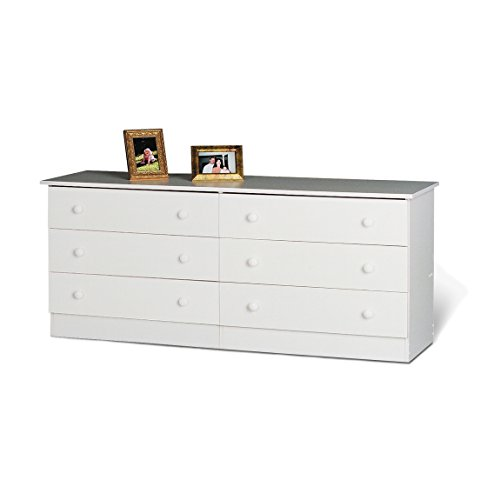 Prepac White 6-Drawer Dresser - Tall Dresser Drawer Six