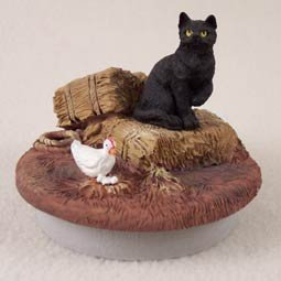 Conversation Concepts Miniature Black Shorthaired Tabby Cat Candle Topper Tiny One ''A Day on the Farm'' (Set of 6)