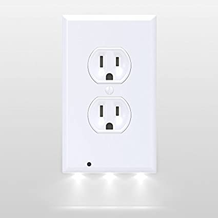 Amazon snappower guidelight outlet coverplate with led night snappower guidelight outlet coverplate with led night lights duplex white aloadofball Image collections