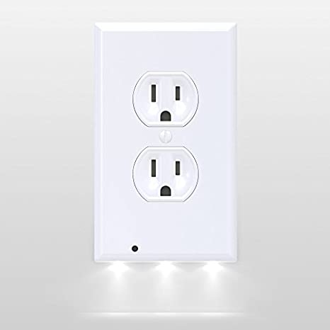 31VU8Z6P wL._SX466_ amazon com snappower guidelight outlet coverplate with led night