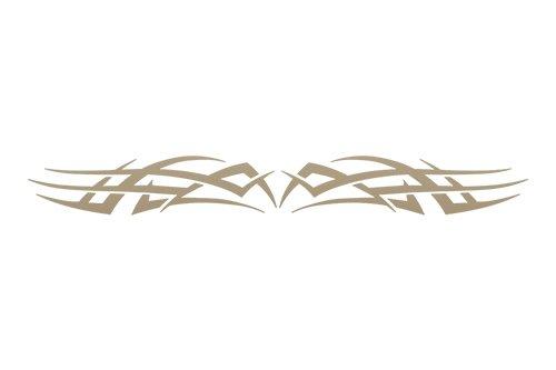 Sticky Creations   Design  102 Tribal Scallop Windshield Decal Sticker Vinyl Graphic Rear Back Window Banner Tailgate Car Truck Van Boat Motorcycle Go Cart Trailer   36 X4 25    Light Gold Metallic
